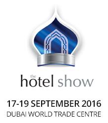 Hotel Show, Dubai 17. - 19. September 2016 Halle 4/Stand: 4B151