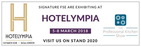 Hotelympia 2018, London 5. - 8. März 2018 Stand: 2020, bei Signature am Stand, Andreas Schmid vor Ort