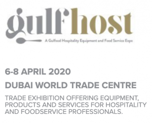 GULFHOST, Dubai April 6 – 8, 2020 Hall/Stand S3-B1 at the stand of Restofair/RAK