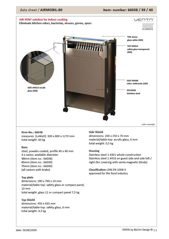 Data Sheet: ELEMENTS AIRMOBIL-80
