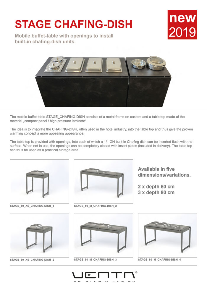 Ventadesign Stage Chafing Dish 2020