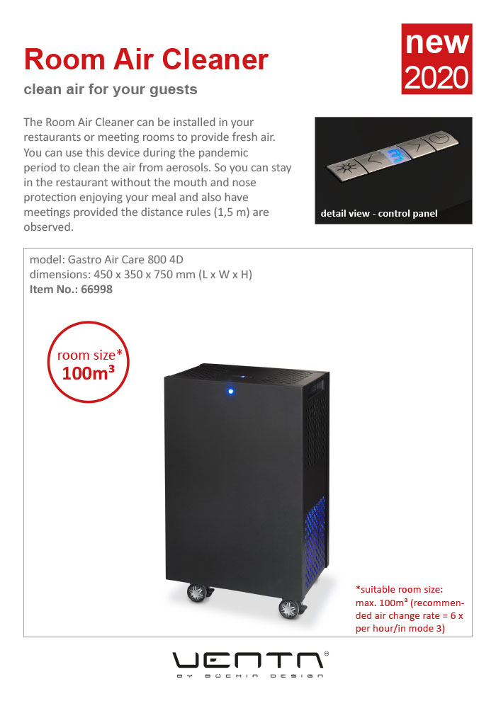 Ventadesign Room Air Cleaner 2020 (black)