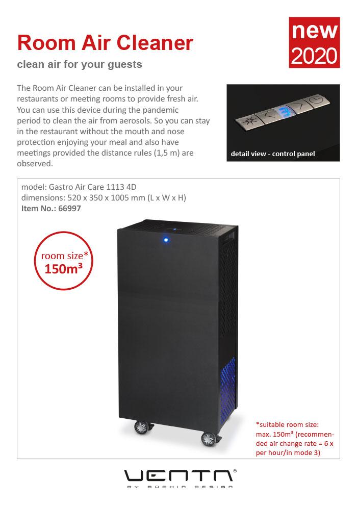 Ventadesign Room Air Cleaner 2020 (black, 150 m³)