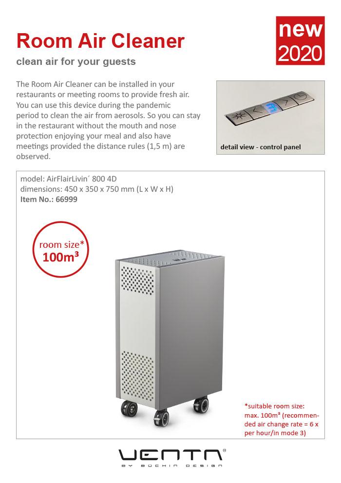 Ventadesign Room Air Cleaner 2020 (gray)